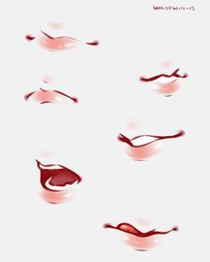 I like to draw mouths when I'm bored #mouth #lips #digitalart #whispwill