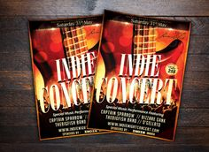 Indie Show Music Concert Flyer by Design.Addict on @creativemarket