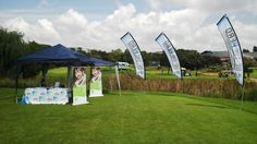19 March 2015 - The Club 21 / Be The Hero Foundation stand at hole 10 of the Truckers Unite Charity Golf Tournament, in support of Pathways and Club 21.