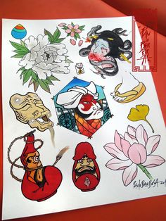 Tattoo Flash Art by Paulo Barbosa - Ariuken Art on Facebook