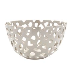 "Pierced Bowl, Grey, 13"" - Gordmans"