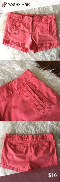 J Crew Coral Chino Shorts Great condition but has slight fading on fabric J. Crew Shorts