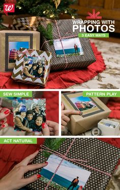 Dress up your gift-wrap with photos this year! These ideas add a personal touch to presents. Check out the how-to on our Smile blog.