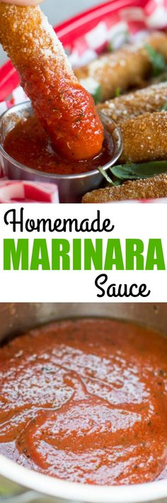 This homemade Marinara Sauce is ideal for dipping all your favorite appetizers. It's fast and easy, made with just 5 pantry ingredients and ready in minutes! via @culinaryhill