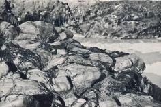 Silver photo print of beach rocks. Beach Rocks, Saint Jean, Camille, Contemporary Landscape, Landscapes, Silver, Inspiration, Brittany, Paisajes