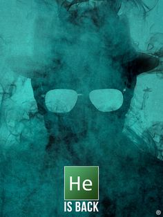 He is Heisenberg. Breaking Bad by Guillaume Vasseur. Serie Breaking Bad, Breaking Bad Poster, Heisenberg, Cinema, Great Tv Shows, Funny Laugh, My True Love, Film Serie, Movies Showing