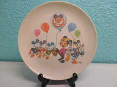 Vintage Mickey Mouse Club children's plate by SouvenirAndSalvage  Omg I had a plate like this