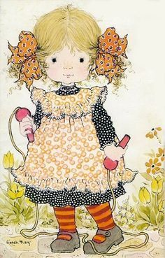 Sarah Kay - skipping was a huge thing for us - Double Dutch! Sarah Key, Holly Hobbie, Sara Key Imagenes, Cute Images, Cute Pictures, Paper Embroidery, Embroidery Patterns, Vintage Greeting Cards, Australian Artists