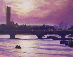 Buy original art via our online art gallery by UK/British Artists. A huge selection of modern art paintings for sale, as well as traditional artwork for sale through Art Discovered Online. Art Paintings For Sale, Modern Art Paintings, Traditional Artwork, London Bridge, London Art, Online Art Gallery, Sunrise, Original Art, Around The Worlds