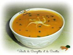Velouté de courgettes et carottes