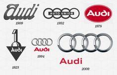 Evolution of Audi logo. #design