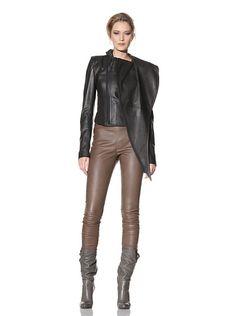 Haider Ackermann Women's Mixed Media Leather Jacket at MYHABIT