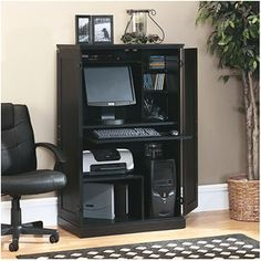 Sauder Computer Armoire, Multiple Finishes...I REALLY LIKE THIS!!!!! BLACK....WALMART ONLINE