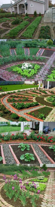 45 Ideas house ideas garden awesome for 2019 Veg Garden, Vegetable Garden Design, Edible Garden, Lawn And Garden, Garden Beds, Vegetable Gardening, Small Gardens, Outdoor Gardens, Dream Garden