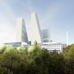 Herzog & de Meuron has revealed its plans to redevelop the Basel campus of Roche, with a new 205-metre-high tower and a modern research centre.