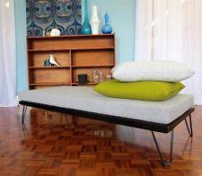 HAIRPIN LEG DAYBED vintage MID CENTURY RETRO 60s teak fler narvik danish style