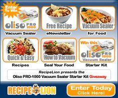 Enter to Win an Oliso Vacuum Sealer Starter Kit