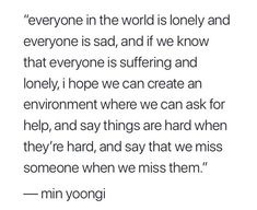 this is something I'd like to see… Yoongi is such a good guy, and he really wants everyone to be happy.