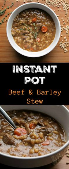 This hearty Instant Pot Beef & Barley Stew boasts amazingly tender beef thanks to the pressure cooker. Using A Pressure Cooker, Instant Pot Pressure Cooker, Pressure Cooker Recipes, Pressure Cooking, Instant Cooker, Pressure Pot, Slow Cooking, Cooking Light, Beef Recipes