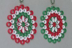 Items similar to 2 Quilling Christmas