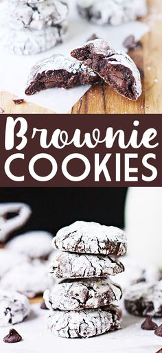 Brownie Cookies -- Brownies in cookie form. Genius! Easy to make using a box brownie mix and a handful of other ingredients. SO YUMMY! | isthireallymylife.com #recipe #brownies