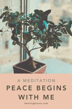 """""""Peace begins with me."""" It's a way of living. Try this short mantra meditation next time you feel stuck in a situation that's anything but peaceful. When you want to take what you've been giving and give back differently. It'll help you press the Reset button so you can live the way *you* want to, no matter what's happening. #innerpeace #spreadlove #spreadpeace #bethelight #selfhealing #healingmeditation #healingmantra #healingaffirmations Mantra Meditation, Meditation Benefits, Daily Meditation, Chakra Meditation, Meditation Practices, Mindfulness Meditation, Healing Affirmations, Positive Affirmations, Feeling Stuck"""