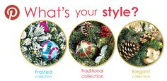 What's your holiday style...Frosted, Traditional, or Elegant? #SolutionsPinIt