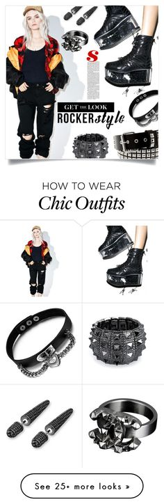 """""""Get the Look: Rocker Chic."""" by sinesnsingularities on Polyvore featuring Pistola, Bling Jewelry, Chanel, rockerchic, contestentry and rockerstyle"""