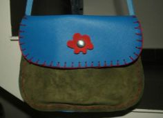 handmade leather bag for sale Leather Bags Handmade, Bag Sale, Saddle Bags, Poppies, Crafty, Blue, Poppy, Poppy Flowers