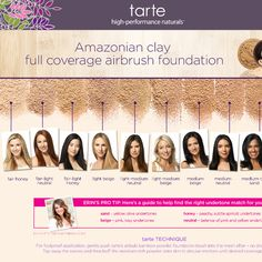 Amazonian Clay Full Coverage Airbrush Foundation - tarte | Sephora-Color Light-Medium Beige - light to medium skin w/pink undertone would work for me