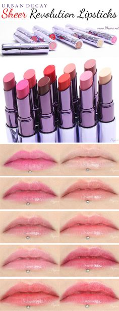 Urban Decay Sheer Revolution Lipsticks Review and Swatches