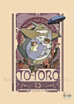 My Neighbor Totoro  - Art Nouveau by jdesigns79