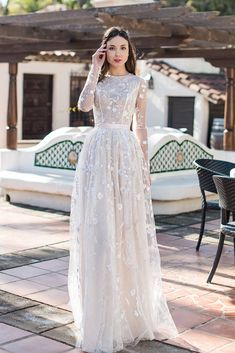 Oksana Mukha Wedding Dresses 2019 is part of Wedding dresses simple - tps header] Romanticism and sensuality, femininity and style, semitone colors and graceful textures all this was laid in the basis of the new Wedding Dress Chiffon, Modest Wedding Dresses, Bridal Dresses, Wedding Gowns, Lace Dress, Ling Sleeve Wedding Dress, Wedding Shoes, Wedding Favors, Wedding Bands