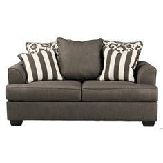 Signature Design by Ashley Levon - Charcoal Loveseat - 7340335