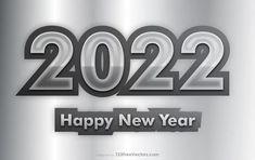 Free Grey New Year Background 2022