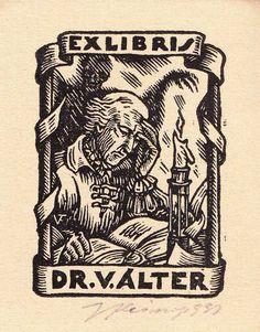 Exlibris Bookplate 1939 Czech Fleissig