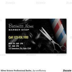 Barber shop business card pinterest barber shop business cards silver scissor professional barber business cards colourmoves