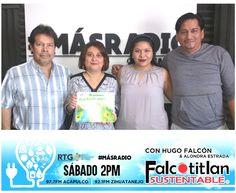 """Falcotitlan SUSTENTABLE®  Hoy sábado a las 02:00 PM por las frecuencias 97.7 FM para Acapulco y 92.1 FM para Zihuatanejo, en Radio y Televisión de Guerrero (RTG)  RADIO EN LÍNEA:  http://rtvgro.net/radio/acapulco977/  #MásRadio #Acapulco #Zihuatanejo #Guerrero #FalcotitlanSUSTENTABLE  INVITADOS:  Mtra. Beatriz Astudillo. Bióloga, asesora ambiental y autora del cuaderno de trabajo """"MI PRIMERA EDUCACIÓN AMBIENTAL"""".  Lic. Efrén García. Oceanólogo y director del proyecto de la isla de La…"""