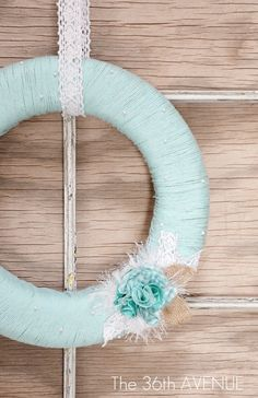 This is one of the cutest wreaths I've seen!! And will be super easy to make!!--Yarn Spring Wreath Tutorial