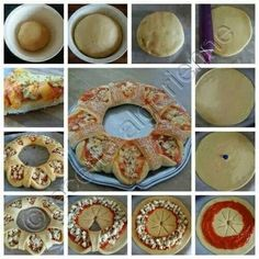 🍕Pizza Tutorials🍕 Like 4⃣ More👍 #TipIt Snacks Für Party, Appetizers For Party, Pizza Recipes, Cooking Recipes, Recipes Dinner, Salad Recipes, Comida Diy, Creative Food, Creative Pizza