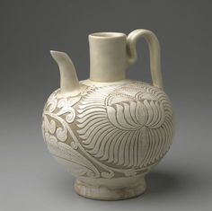 Cizhou Ewer, 10th-early 11th century, Song dynasty. Cizhou ware.