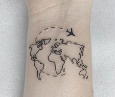 New Travel Tattoo Ideas For Women World Maps Ideas - New Travel Tattoo Ideas Fo. - New Travel Tattoo Ideas For Women World Maps Ideas – New Travel Tattoo Ideas For Women World Map - World Travel Tattoos, World Map Tattoos, Tattoo Designs For Women, Tattoos For Women Small, Small Tattoos, Simple Tattoo Designs, Mini Tattoos, Body Art Tattoos, New Tattoos