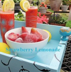 Perfect for a hot summer day, Homemade Strawberry Lemonade recipe.