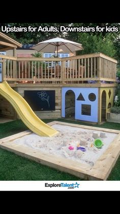 I want this. Could connect another slide to the other side for a pool or something.