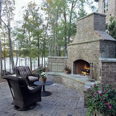 Brick Fireplaces Design, Pictures, Remodel, Decor and Ideas - page 7