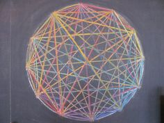 Age 12 ~ Geometric Drawing ~ 12 Point Circle ~ chalkboard drawing