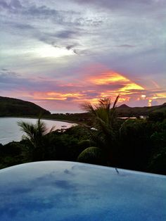 Beach House. Infinity edge pool. Sunset from Ocean Song Villa St. Kitts. Picture by Ricky Pereira.