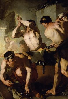 Page of The Forge of Vulcan by GIORDANO, Luca in the Web Gallery of Art, a searchable image collection and database of European painting, sculpture and architecture Baroque Painting, Baroque Art, Italian Baroque, Italian Paintings, Classic Paintings, Figure Painting, Painting & Drawing, Art Gay, Rennaissance Art