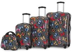 Image result for butterfly hard shell luggage
