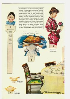 Thanksgiving paper dolls and vintage post cards - Bobe Green - Picasa Web Albums